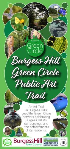 Cover image of Burgess Hill Green Circle Public Art Trail, image links to PDF of the Art Trail
