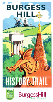 Cover image of the Burgess Hill History Trail leaflet, image links to a PDF of the History Trail leaflet