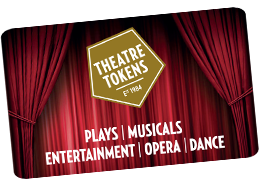 Image of a theatre token, links to Theatre Tokens website