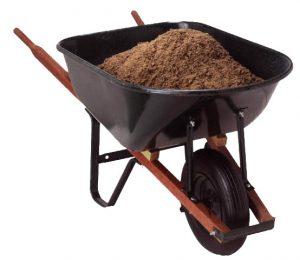 Decorative photograph of a wheelbarrow