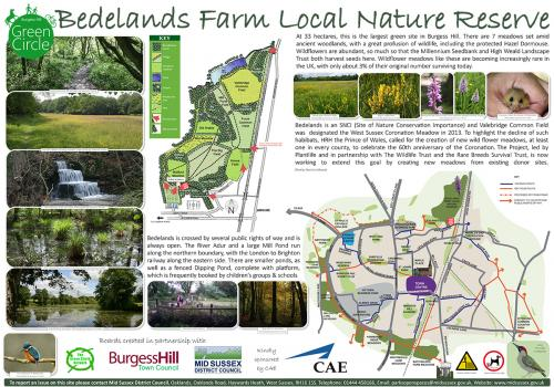 Image of the Bedelands Farm Local Nature Reserve information board