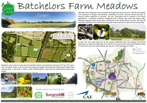 Image of the Batchelors Farm Meadows information board