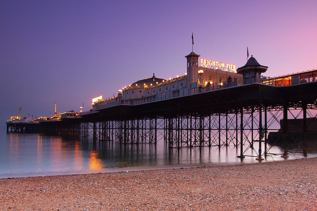 Photograph of Brighton Pier, image links to external site