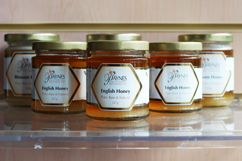Photograph of a selection of Paynes Honey