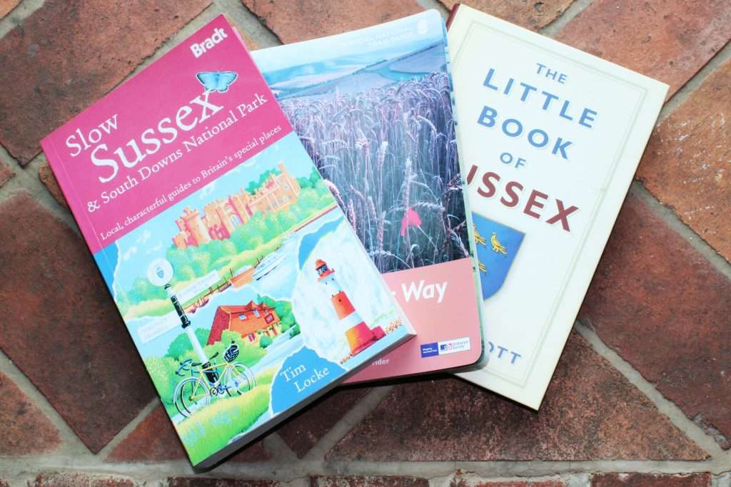 Photograph of a selection of local books available at the Help Point