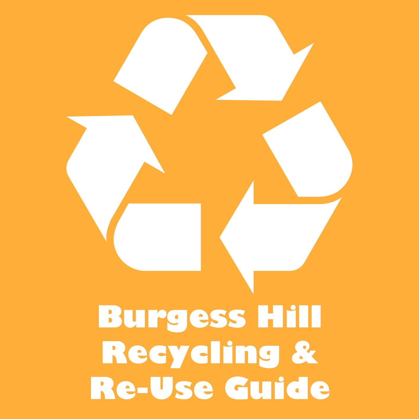 Image reads Burgess Hill Recycling and Re-use guide and links to a PDF of the guide