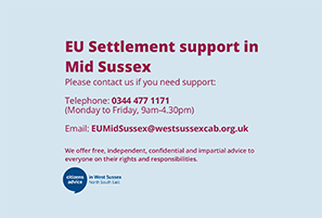 EU Settlement support in Mid Sussex