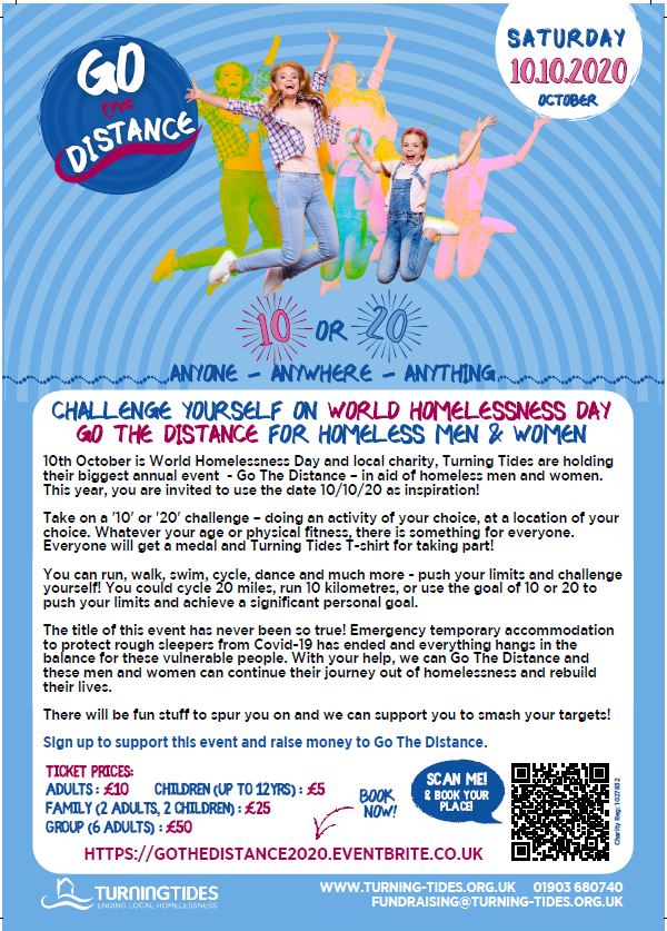 Go the Distance – Sign up to support and raise money for World Homelessness Day