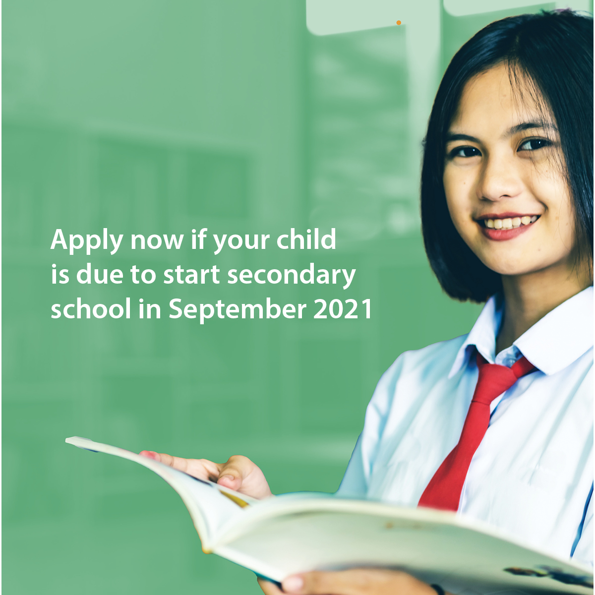 Secondary School Applications are now open