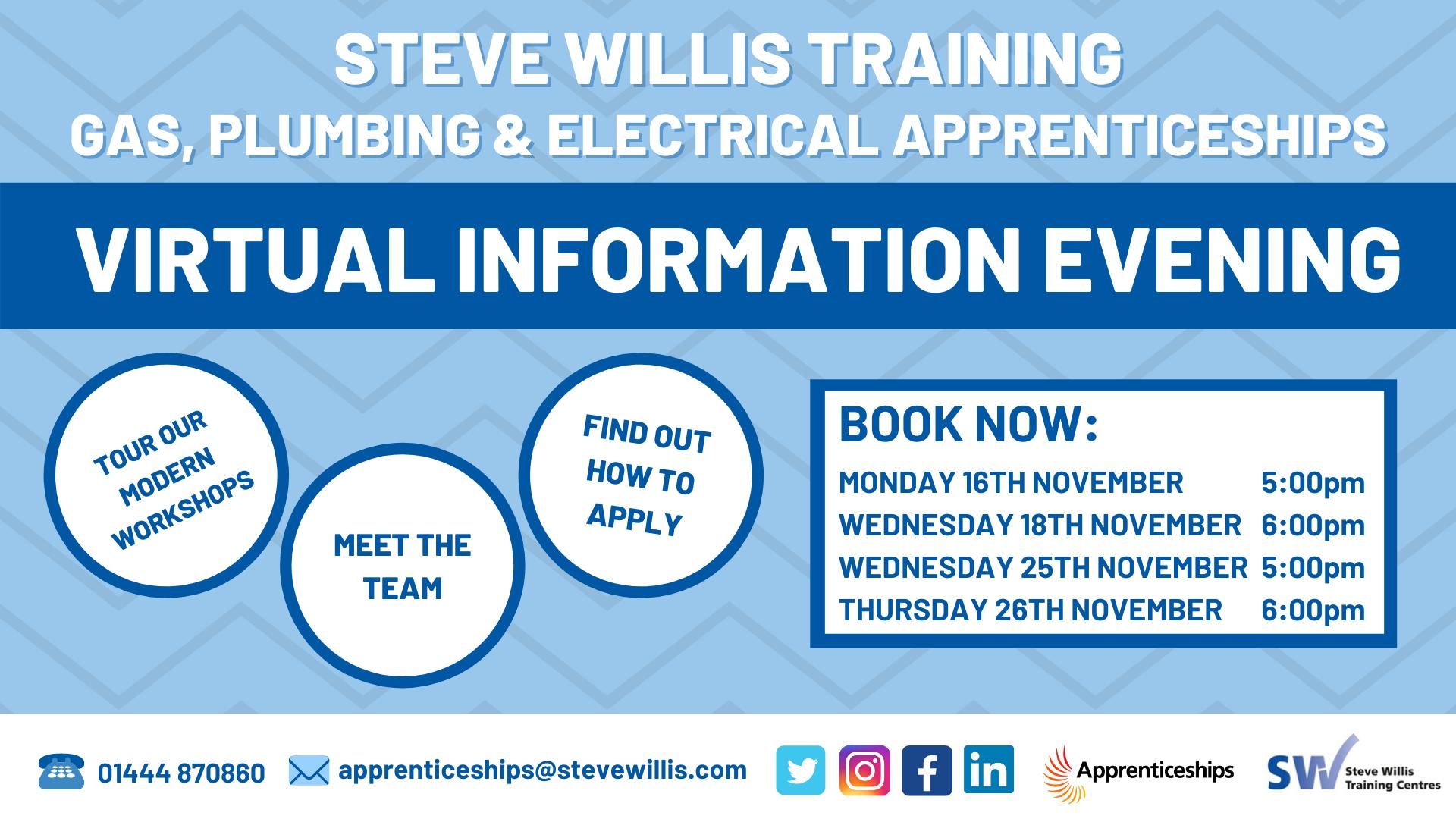 Steve Willis Virtual Information Evening