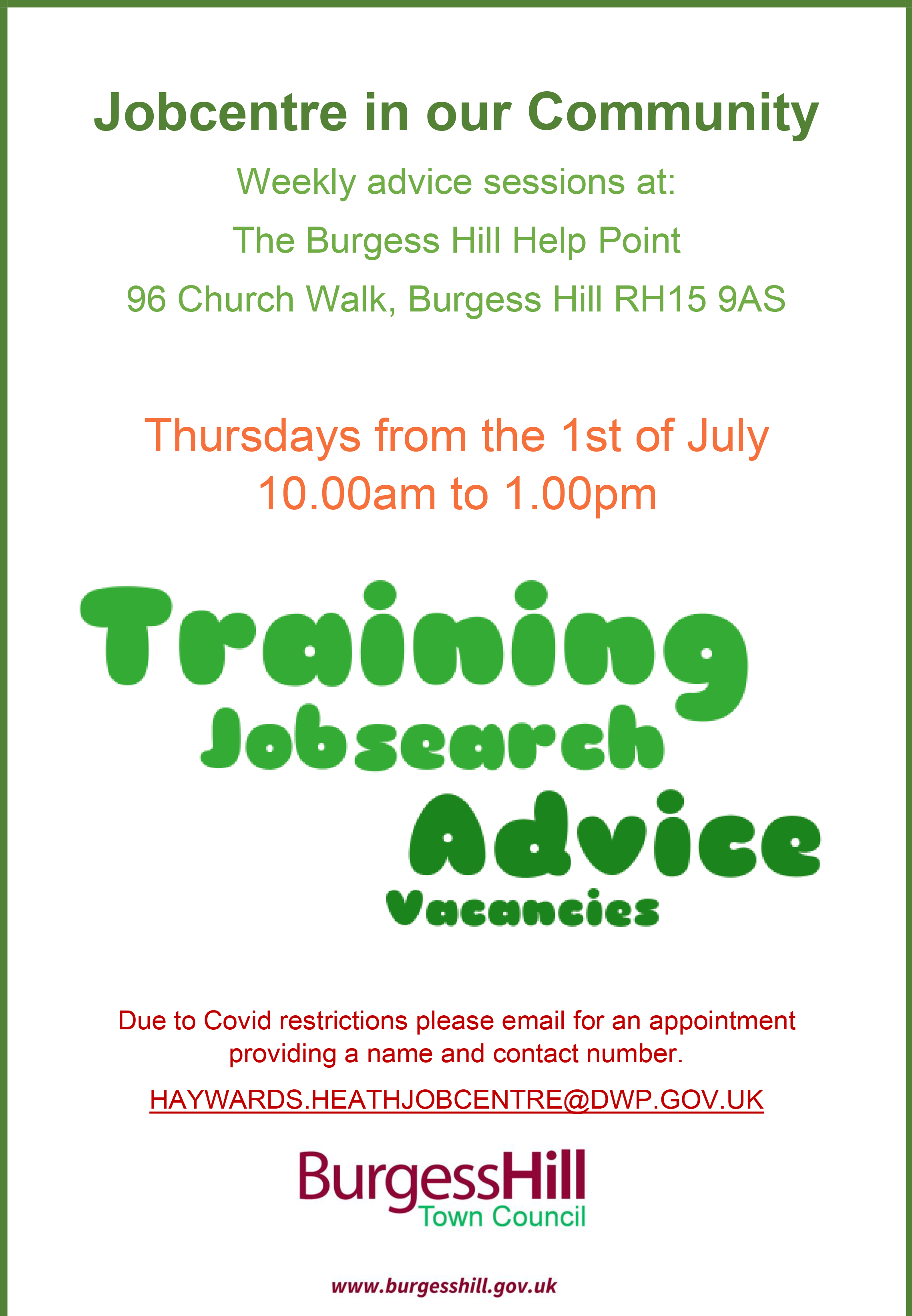 Jobcentre in our Community