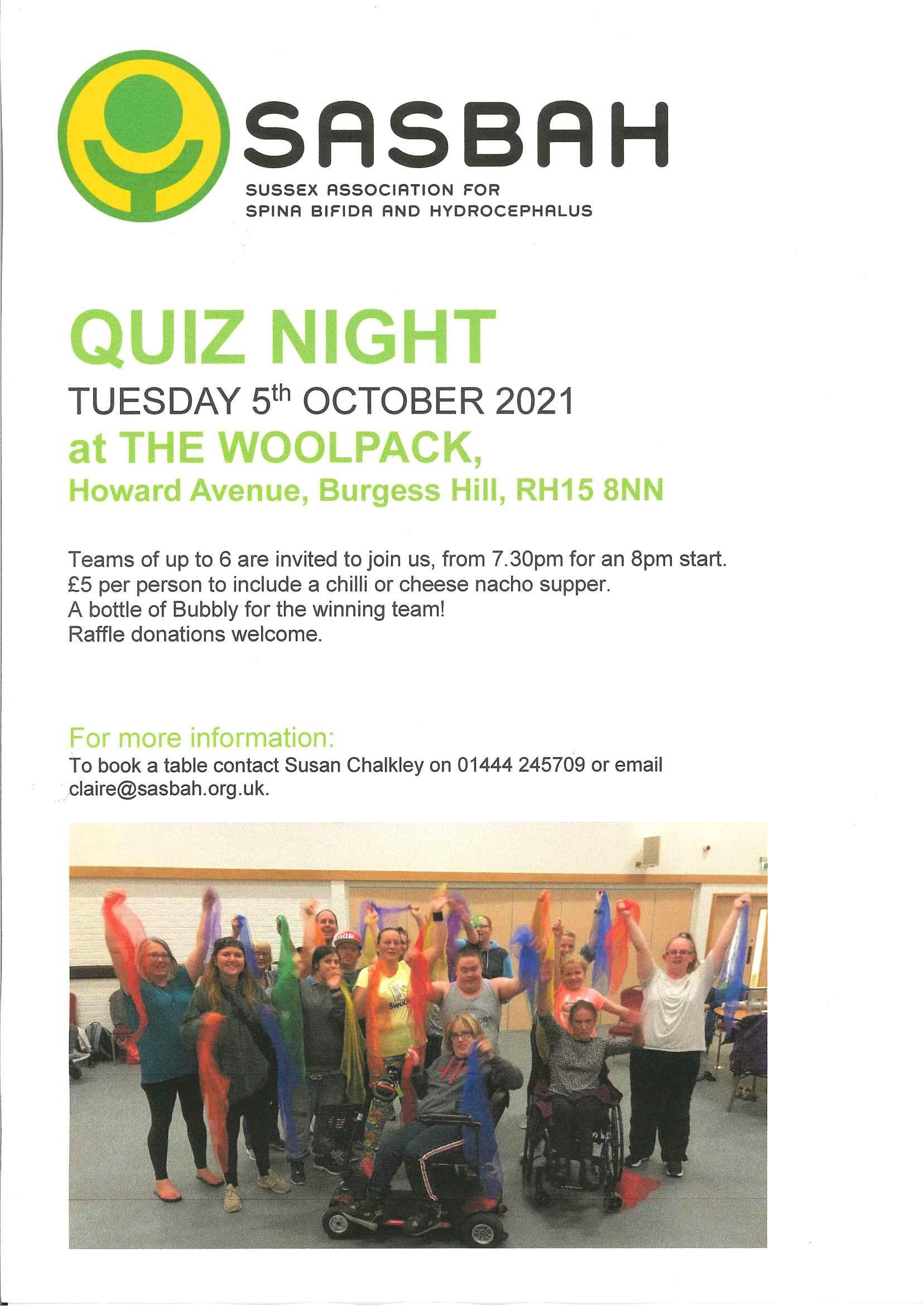 SASBAH Quiz Night at the Woolpack