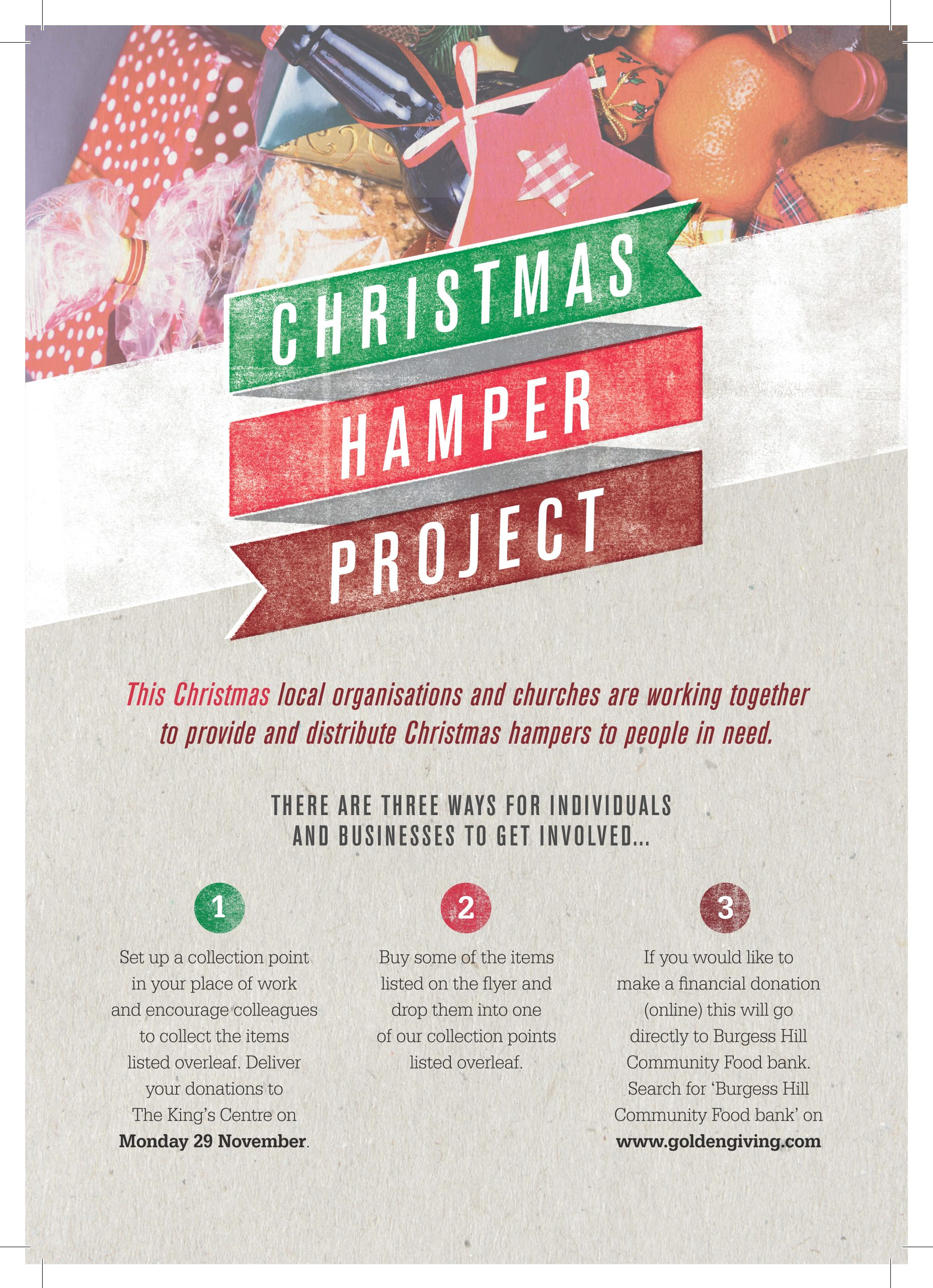 Christmas Hamper project page 1 link to PDF