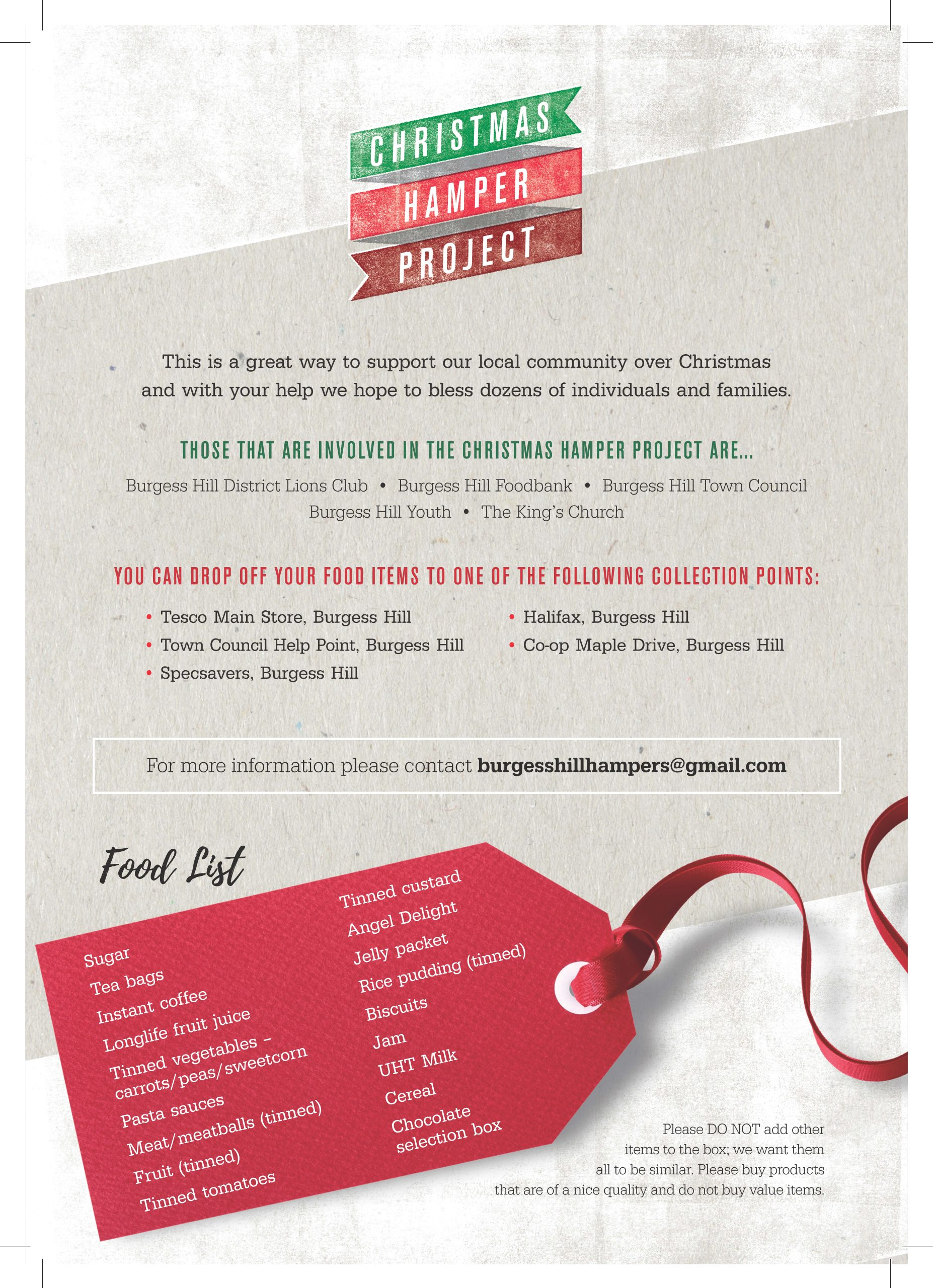 Christmas Hamper flyer page 2 link to PDF