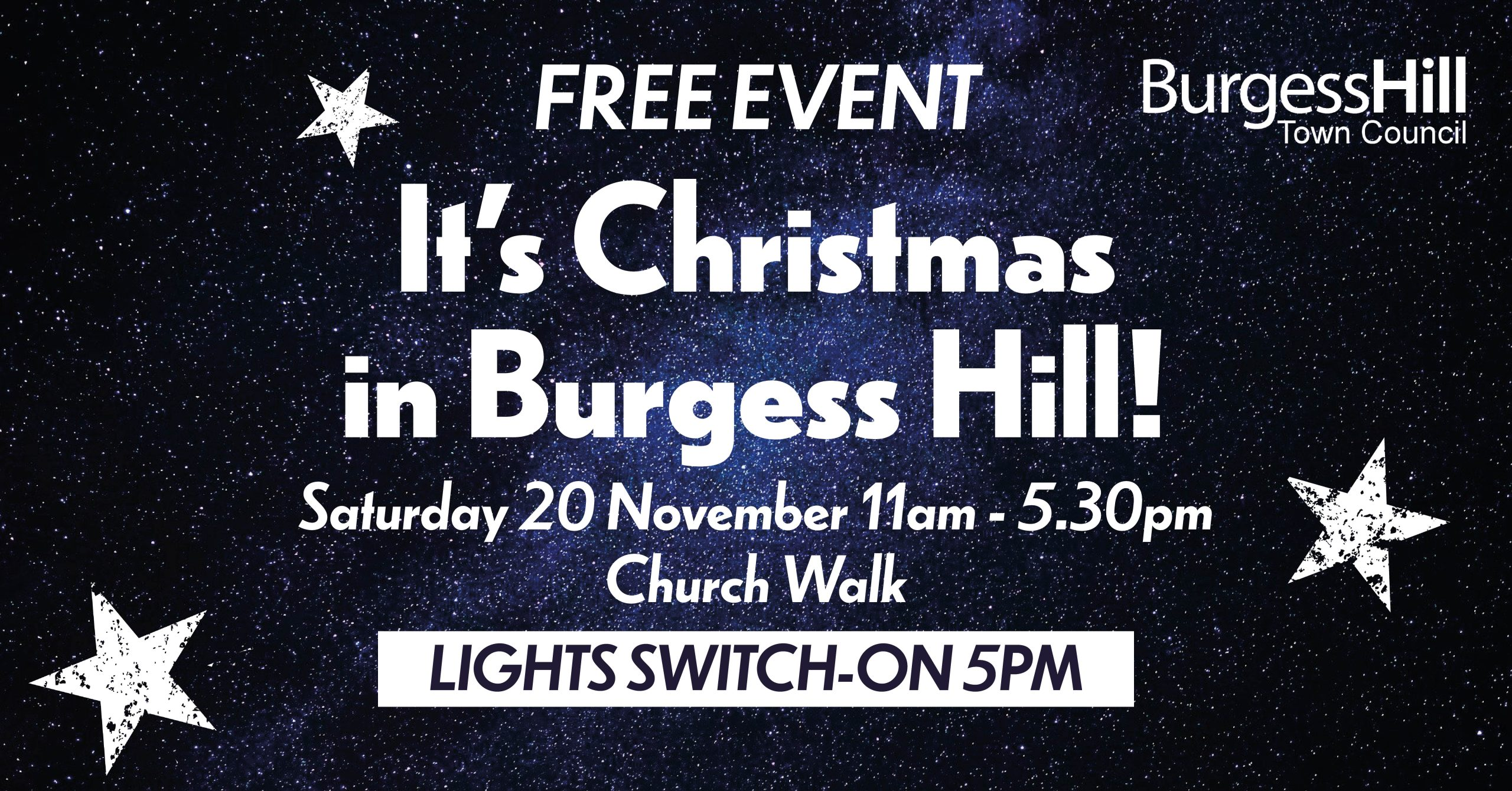 It's Christmas in Burgess Hill!