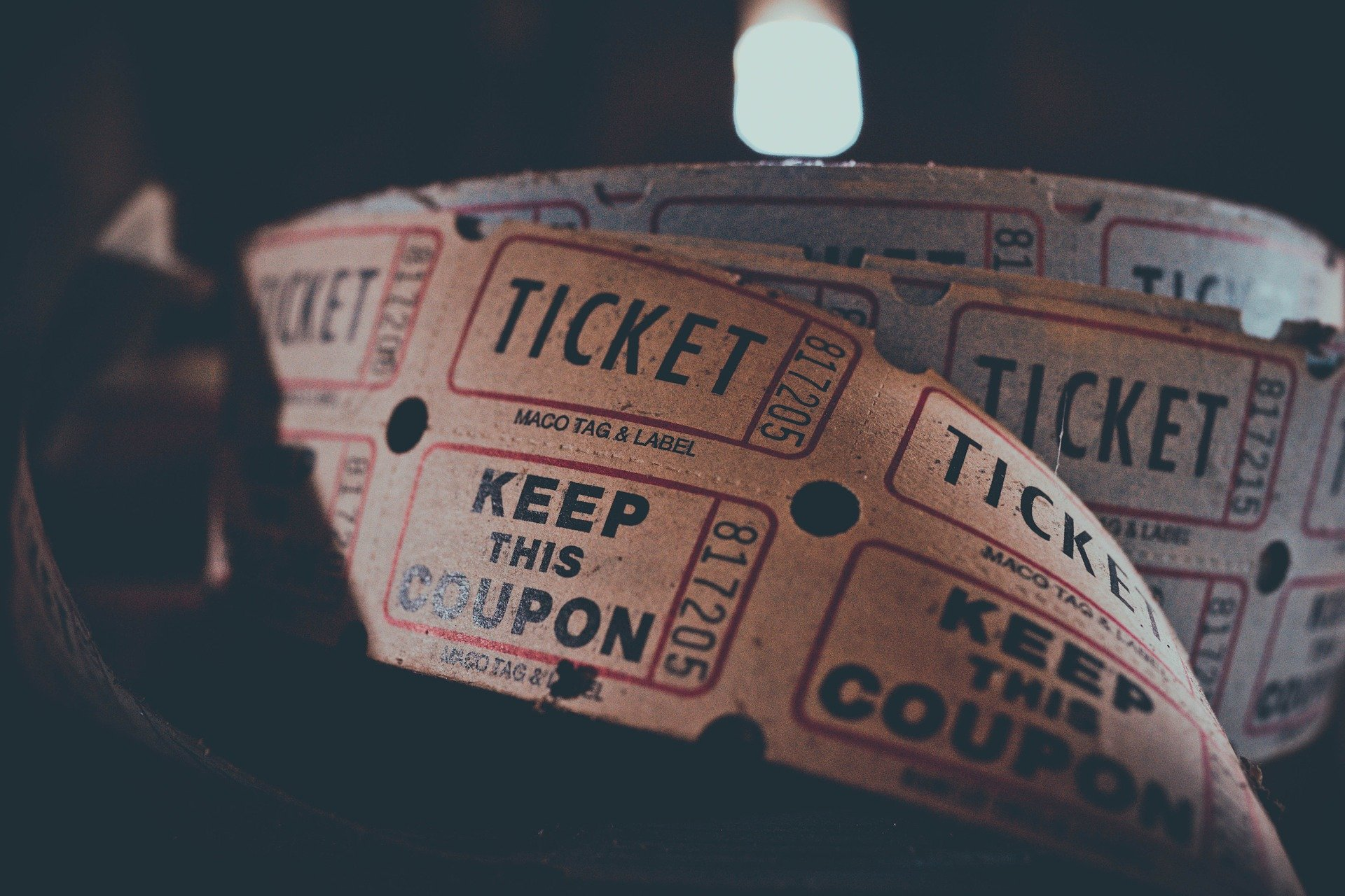 Decorative image of tickets